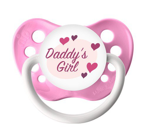 Daddy's Girl Pacifier - Pink - Girls - Ulubulu - 0-6 months - Daddy's Girl Binky