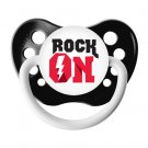 Rock On Pacifier - Ulubulu - 0-6 months - Black - Unisex - Lightening Bolt Binky