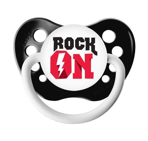 Rock On Pacifier - 6+ months - Ulubulu - Black - Unisex - Lightening Bolt Binky