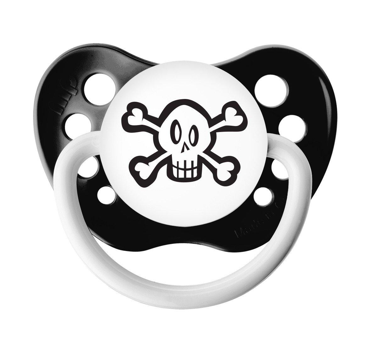 Skull Pacifier - Ulubulu - 0-6 months - Black - Unisex - Skull and Crossbones Binky