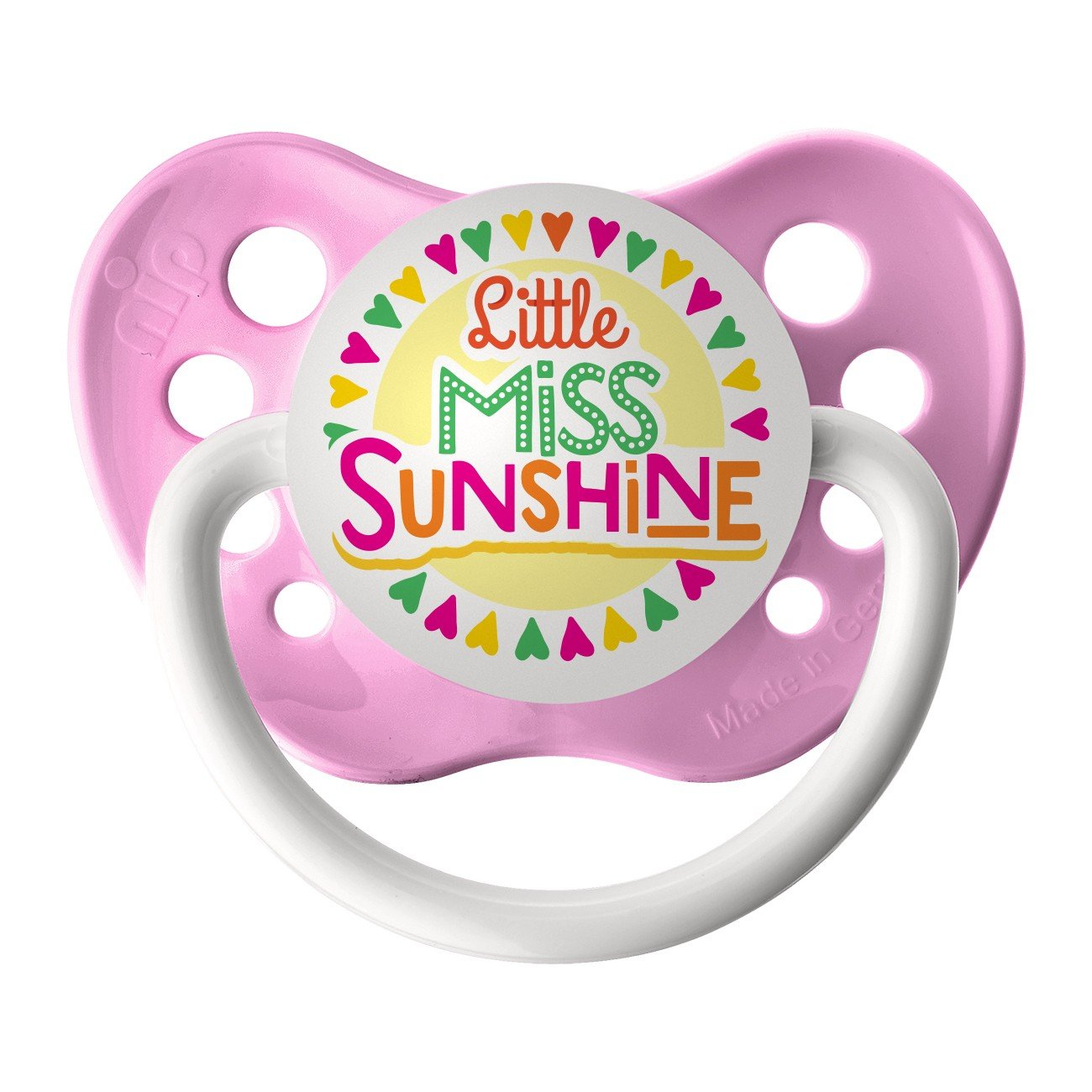Little Miss Sunshine Pacifier - Ulubulu - Girls - Pink - 0-6 months Binky