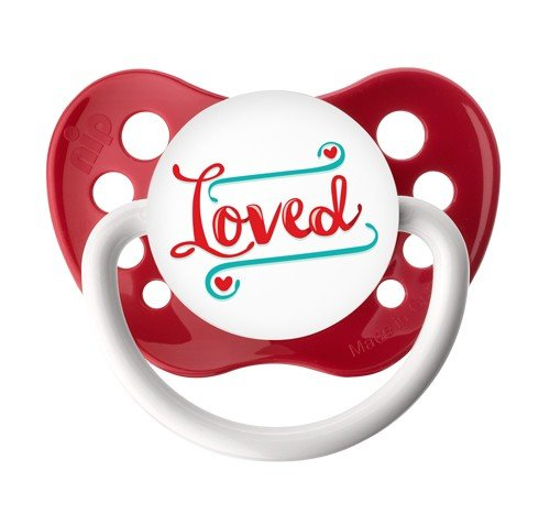 Loved Pacifier by Ulubulu - Red - Unisex - 6+ months