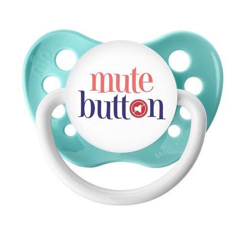 Mute Button Pacifier - Unisex - 6+ months - Green - Ulubulu