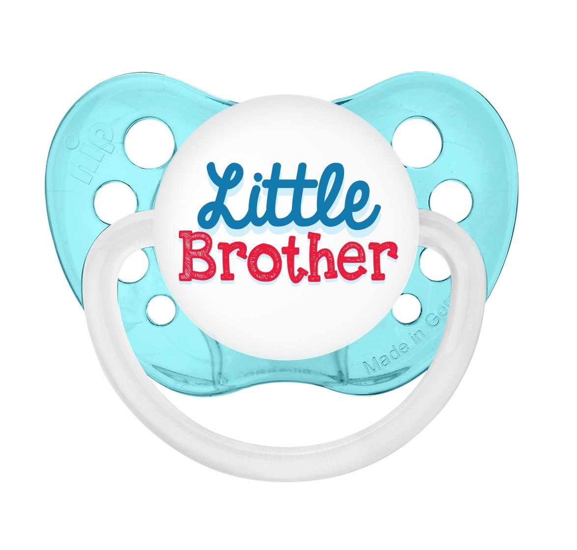 Little Brother Pacifier - Boys - Aqua Blue - 6+ months - Ulubulu