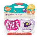 Elephant and Cutie Pie Pacifier Set - 0-6 months - Girls - Ulubulu - Set of 2 Binkies