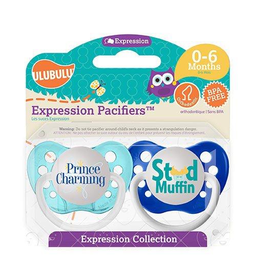 Prince Charming Pacifier and Stud Muffin Pacifier Set - 0-6 months - Ulubulu - Boys - Blue Binkies