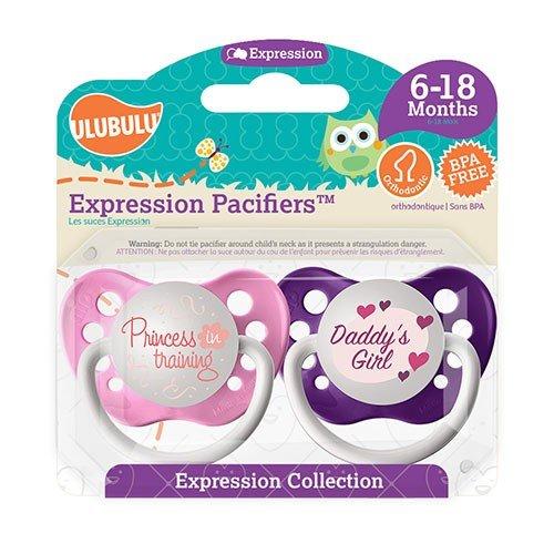 Princess In Training Pacifier and Daddy's Girl Pacifier Set - Girls - 6+ months - Ulubulu