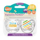Shine Bright Pacifier and Stripes Pacifier Set - 0-6 months - Unisex - Ulubulu - Set of 2 Binkies