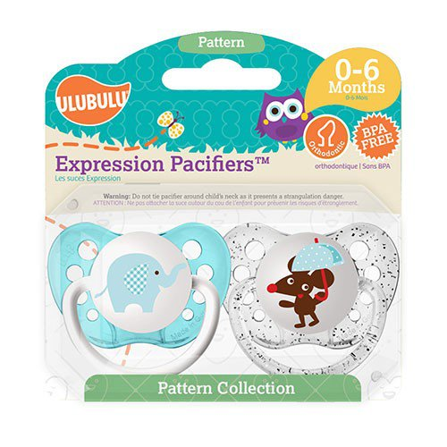 Elephant Pacifier and Mouse Pacifier Set - 0-6 months - Boys - Ulubulu - 2 Pacis