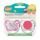 Pink Plaid Heart Pacifier and Pink Moroccan Pacifier Set - 6-18 months - Girls - Ulubulu