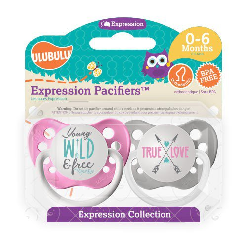 Young, Wild & Free Pacifier and True Love Pacifier Set - Girls - 0-6 months - Ulubulu