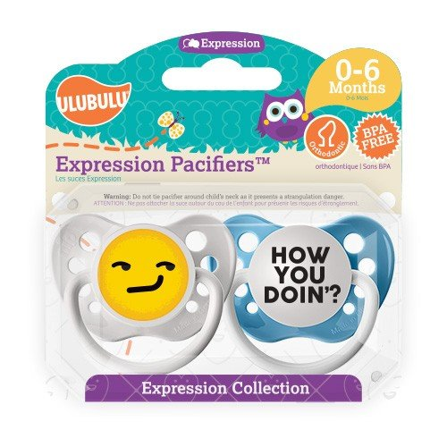 How You Doin? Pacifier and Emoji Pacifier Set - 0-6 months - Boy - Ulubulu - 2 Soothers