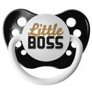 Little Boss Pacifier - 0-6 months - Ulubulu - Black - Unisex - Future CEO