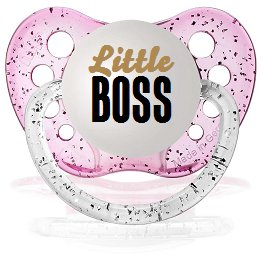 Little Boss Pacifier - 0-6 months - Ulubulu - Pink - Girls - Future CEO