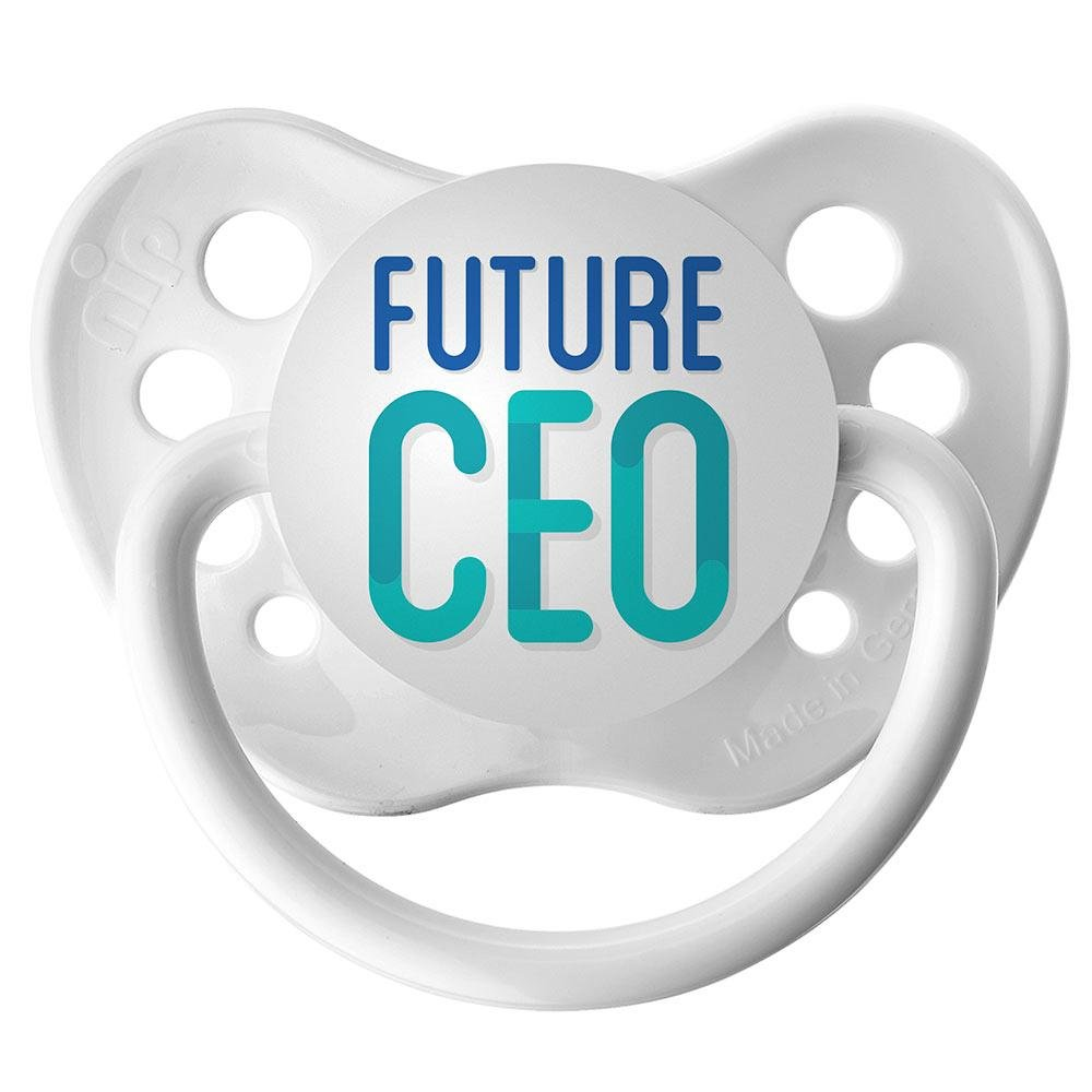 Future CEO Pacifier - 6+ months - Unisex - White - Ulubulu