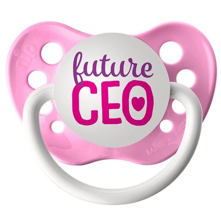 Future CEO Pacifier - 6+ months - Girls - Pink - Ulubulu