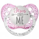 Jesus Loves Me Pacifier - Ulubulu - Pink - 0-6 months - Girls - Religious Baby Gift