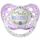 God's Masterpiece Pacifier - Ulubulu - Purple - 0-6 months - Girls - Religious Baby Gift