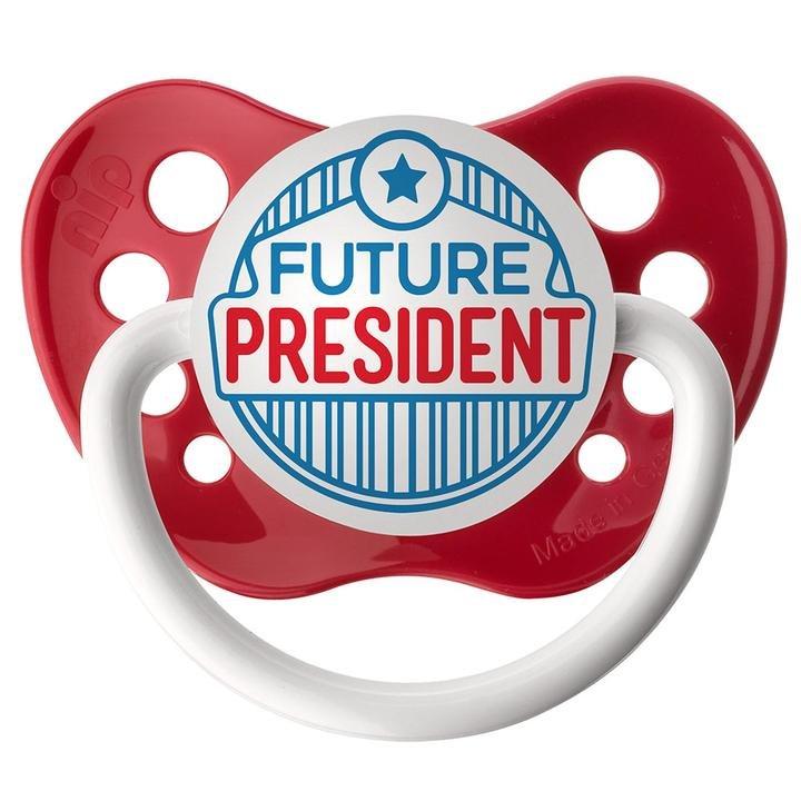 Future President Pacifier - 0-6 months - Ulubulu - Red - Unisex - Future CEO