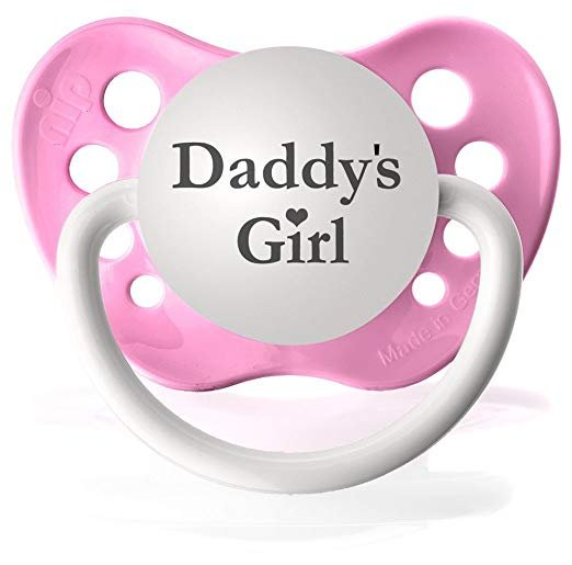 Daddy's Girl Pacifier - 6+ months - Girls - Pink - Ulubulu