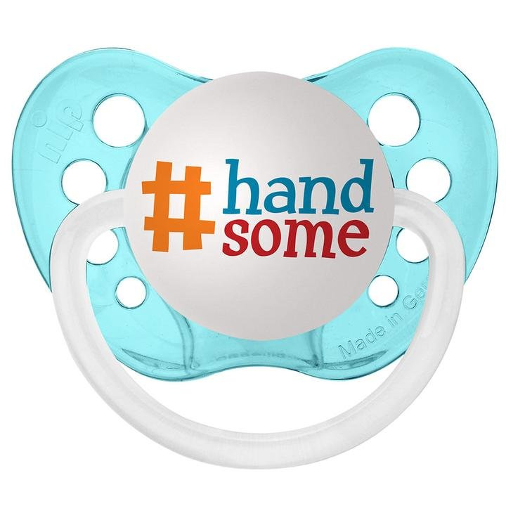 #Handsome Pacifier - 0-6 months - Ulubulu - Boys - Aqua Blue