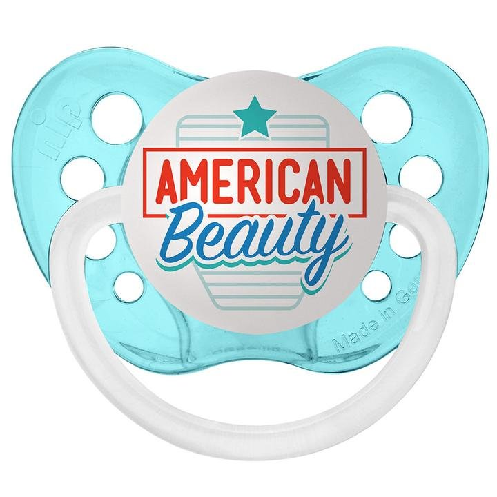 American Beauty Pacifier - 6+ months - Ulubulu - Unisex - Aqua Blue