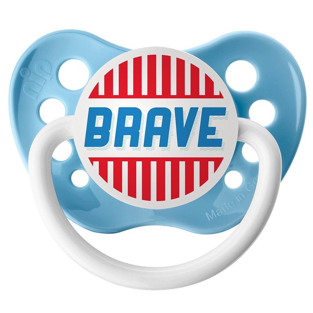 Brave Pacifier - 6+ months - Ulubulu - Boys - Light Blue Binky