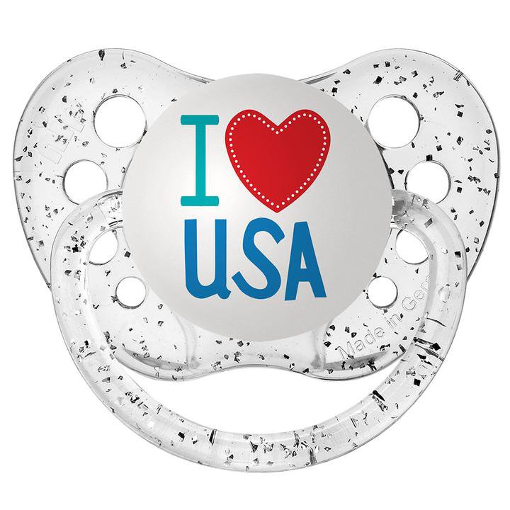 I Love USA Pacifier - Ulubulu - Clear - 0-6 months - Unisex - 4th of July Baby Gift