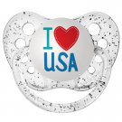 I Love USA Pacifier - Ulubulu - Clear - 6+ months - Unisex - 4th of July Baby Gift