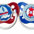 Nautical Pacifier Set - Sailboat & Life Ring Pacifier - Unisex - 6+ months - Ulubulu