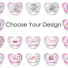Ulubulu Expression Pacifiers for Girl - Choose Your Design - 0-18 months