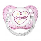 Princess Pacifier - Ulubulu - Glitter Pink - Girls - 0-6 months and 6-18 months
