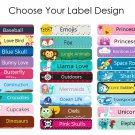 72 Daycare Labels - School Stickers - Bottle Labels - Personalized Label Set
