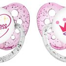 Princess Pacifier Set - Ulubulu - Girls - Pink Binky - Set of 2 Pacis - 0-18 mon