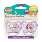 Ulubulu Girl Pacifier Set - Princess & Born To Shop - 0-18 months - 2 Binky Set