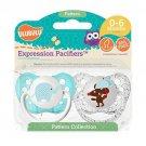 Ulubulu Boy Binky Set - Elephant & Mouse - 0-6 months - 2 Pacifiers - Soothers