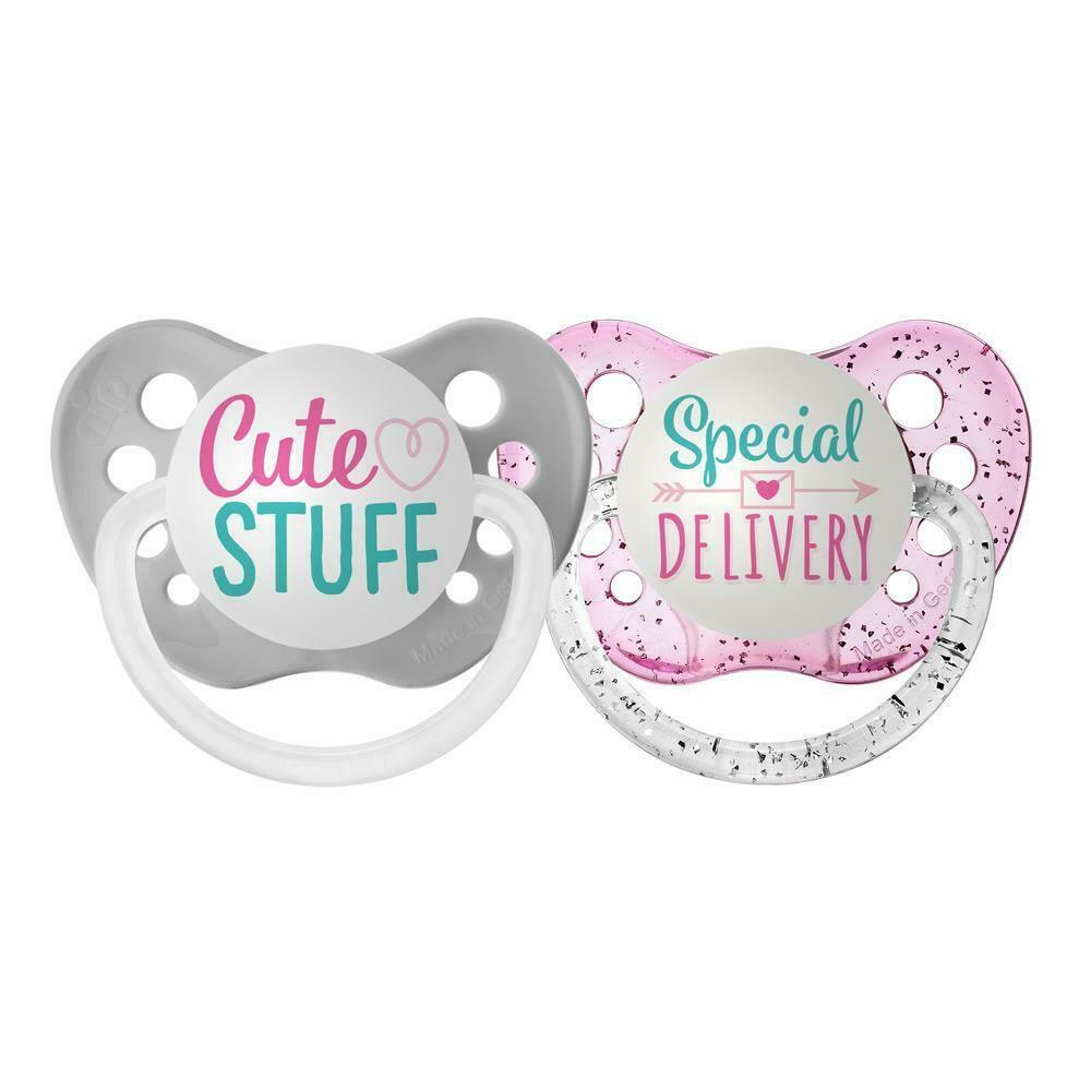 Ulubulu Rainbow Pacifier Set - Cute Stuff & Special Delivery - Girls - 0-18 mos