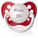 Kisses 25¢ Pacifier for Baby - Valentine's Day - 6-18 months- Red - Unisex - NUK Binky