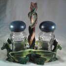 Green DRAGON Salt And Pepper Holder DRAGONS Kitchen MYTHICAL (#37073)