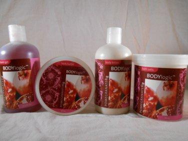 Body Logic POMEGRANATE FIG Body Lotion Butter Shower Gel Bath Salts BATH & BODY