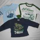BOYS 3 Piece Lot LONG SLEEVE SHIRTS 2T TODDLER Clothes Dinosaur Race Cars