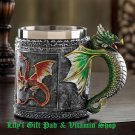Medieval Style Royal DRAGON MUG Serpent Stein Fantasy Celtic MUGS (#12694)