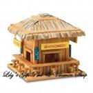 Beach Hangout BIRDHOUSE Bar Hut Outdoor SPRING TIME Garden Bird House (#34715)