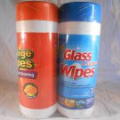 Household Cleaning ORANGE WIPES & GLASS SURFACE WIPES 2 pack (#38406)