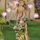 PEONY FAIRY Solar Powered Statue Flowers Light Up GARDEN Decor Spring (#13915)