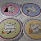 DIVAS 4 Piece COASTER SET Santa Barbara Ceramic Design DIVA'S (#35794)
