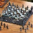Black DRAGONS CHESS SET Glass Game Board Dragon Warriors (#15190)
