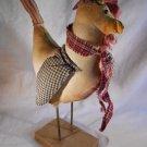 CHICKEN Fabric Figurine Chickens Barnyard Decor (#37359)
