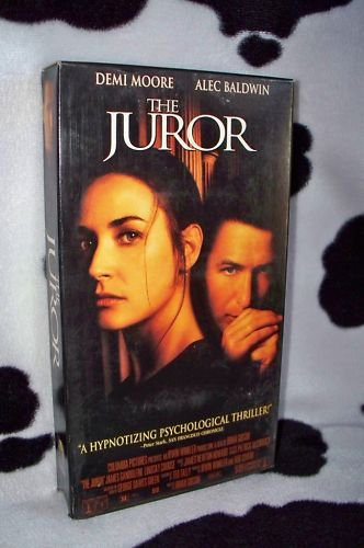 THE JUROR Demi Moore Alec Baldwin VHS MOVIE