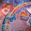 "ANGEL FLEECE BLANKET Bedding Throw Angels 60"" x 50"" Bed BUTTERLY Rainbow #37192"